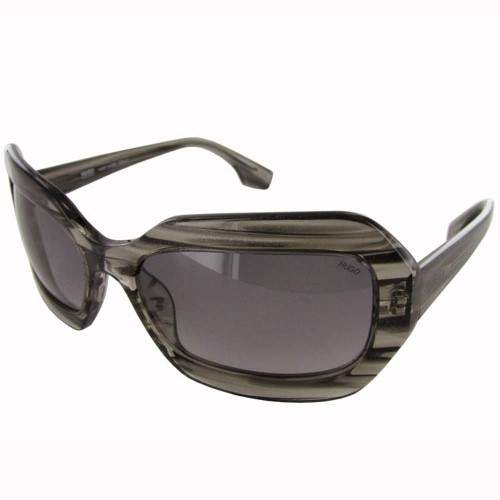 Hugo Boss Womens 'OCW 0018/S' Designer Sunglasses, Striped Black/Grey