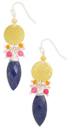 Women's Nakamol Design Disc Stone Statement Earrings $48 thestylecure.com