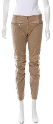 Plein Sud Jeans Zip-Accented Mid-Rise Pants