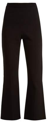 Roland Mouret - Stalham Flared Knitted Trousers - Womens - Black