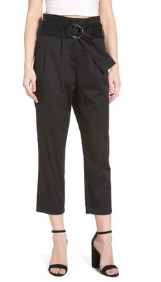Women's J.o.a. Belted Crop Pants $89 thestylecure.com