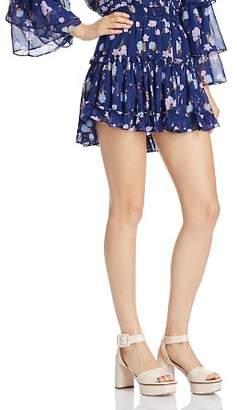 MISA Los Angeles Rianne Floral Mini Skirt