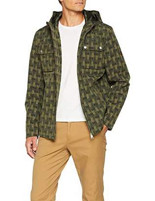 Ben Sherman Men's Printed Anorak Coat (Dark Green)