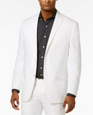 Sean John Closeout! Men's Classic-Fit White Linen Jacket