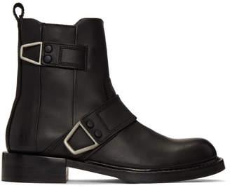Diesel Black D-Jack Belted Boots