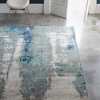 west elm Painterly Abstract Rug - Blue
