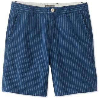 L.L. Bean L.L.Bean Signature Indigo Canvas Shorts, Stripe