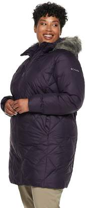 Columbia Plus Size Icy Heights II Hooded Mid-Length Down Jacket
