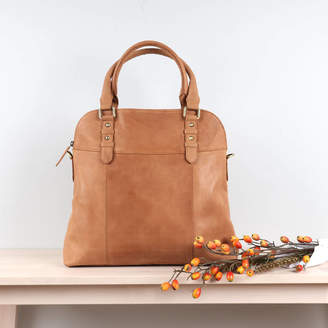 The Leather Store Ashbury Leather Shopper Tote, Tan