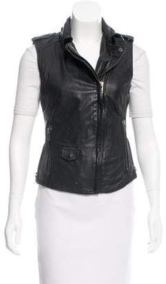 Muu Baa Muubaa Leather Biker Vest