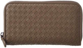 Bottega Veneta Intrecciato Nappa Leather Zip-Around Wallet