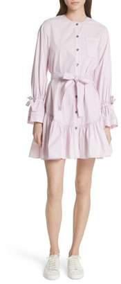 Rebecca Taylor Ruffled Poplin Shirtdress