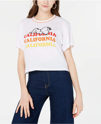 Disney Freeze Juniors' Peanuts Snoopy California Graphic T-Shirt
