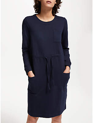 People Tree Paloma Fleece Dress, Navy