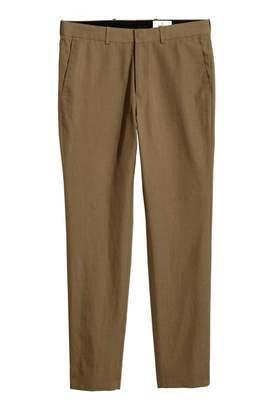 H&M Wool-blend Pants - Light brown - Men