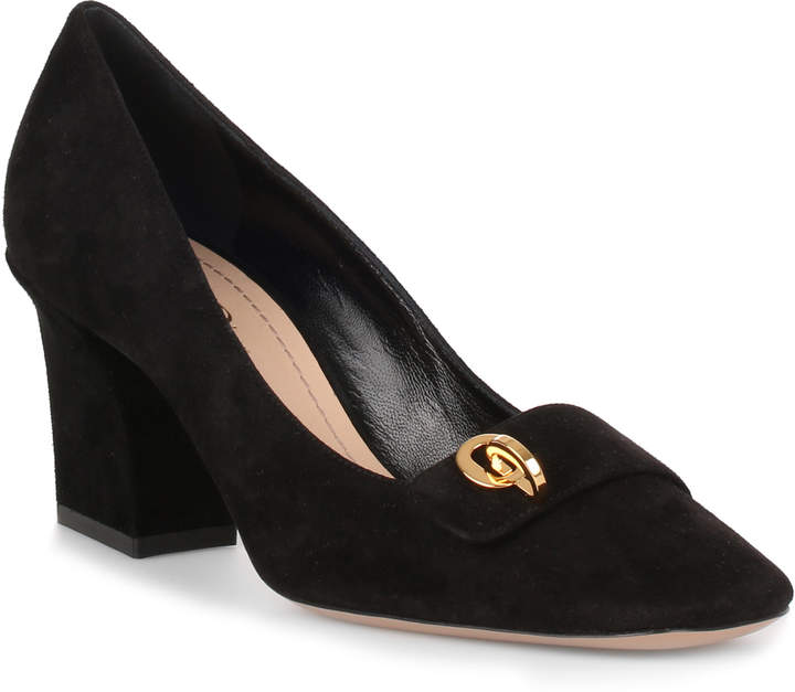 C'est Dior black suede pump