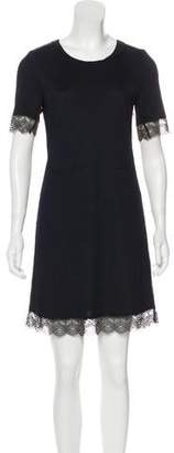 3.1 Phillip Lim Lace-Trimmed Mini Dress