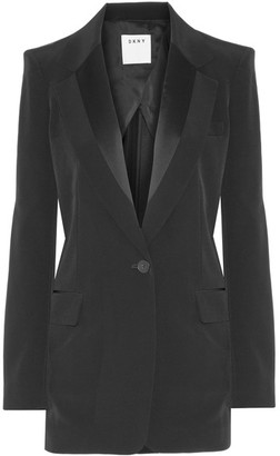DKNY - Satin-trimmed Faille Blazer - Black $500 thestylecure.com