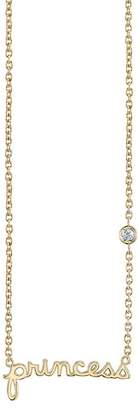 Sydney Evan Syd by 14K Yellow Gold Plated Sterling Silver Diamond 'Princess' Pendant Necklace - 0.015 ctw