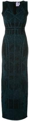 Herve Leger shimmer long dress
