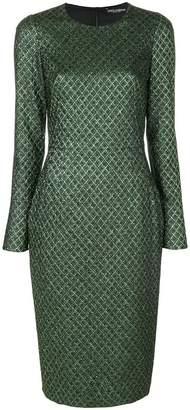 Dolce & Gabbana metallic jacquard dress