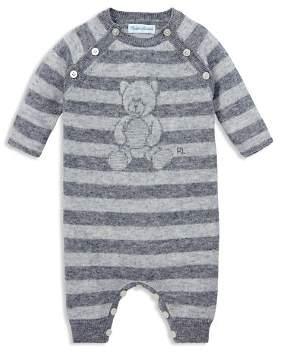 Ralph Lauren Boys' Bear Striped Coverall - Baby