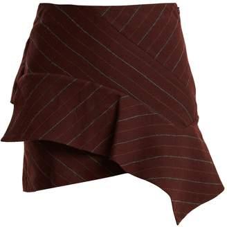 Isabel Marant Kimura striped linen-blend mini skirt