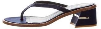 Tibi Satin Slide Sandals