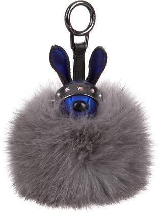 MCMMCM Fox Fur Bag Charm