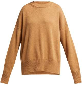 Jil Sander Dropped Sleeve Cashmere Sweater - Womens - Camel