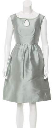 Barbara Tfank Satin Keyhole-Accented Dress Barbara Tfank Satin Keyhole-Accented Dress