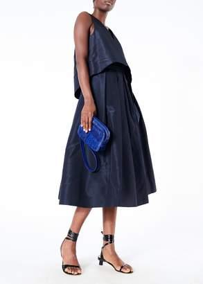 Tibi Silk Faille Sleeveless Crop Top