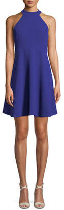 Trina Turk Caroline Crepe Halter Fit-and-Flare Dress