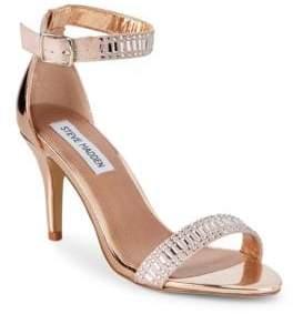 abcef13181eb Steve Madden Florela Embellished Metallic Sandals