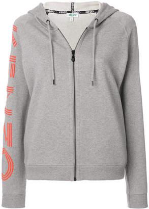 Kenzo logo zip hoodie