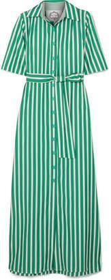 Evi Grintela - Valerie Striped Cotton-poplin Maxi Dress - Green