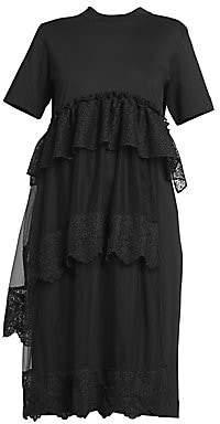 Simone Rocha Women's Layered Tiered Tulle T-Shirt Dress