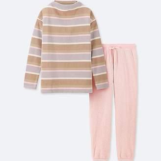 Uniqlo Women's Long-sleeve Striped Fleece Set
