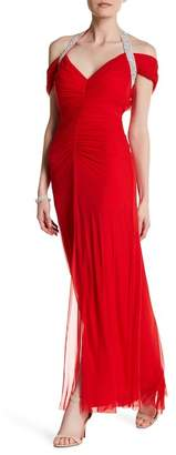 Marina Embellished Front Slit Gown $199 thestylecure.com