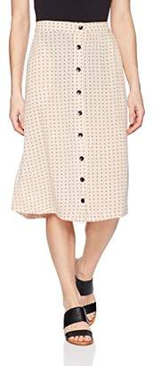 Volcom Women's Get To Steppin Midi Length Front Button Skirt