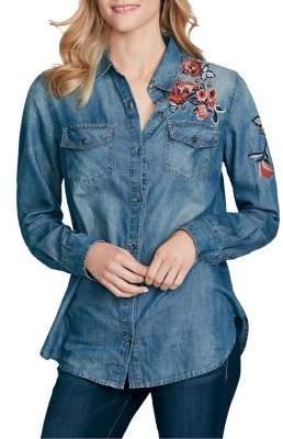 Jessica Simpson Petunia Denim Button-Down Shirt