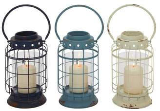 Brimfield & May Bell Rock Candle Lanterns, Set of 3