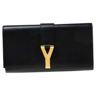 Saint Laurent Chyc Black Leather Clutch bags
