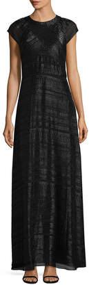 Shoshanna Solid Crewneck Gown