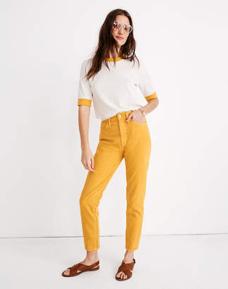 Madewell The Momjean: Garment-Dyed Edition