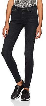 Selected Women's Slfida Mw Skinny Black Wash Jeans Noos W Denim Wash:Black, W28/L32 (Size: 28)
