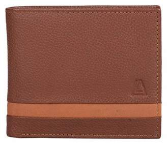 Leather Architect Men's 100% Leather RFID Blocking Bifold Wallet with Fixed ID and 11 Credit Card Slots ()
