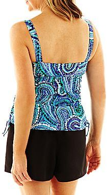 JCPenney Azul by Maxine of Hollywood® Ocean Dream Shirred-Side Tankini Swim Top