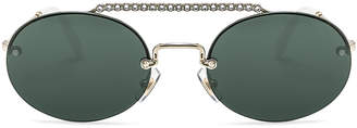 Miu Miu Embellished Oval Sunglasses