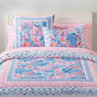 042977872f8421 Pottery Barn Teen Lilly Pulitzer Slathouse Soiree Patchwork Quilt, King,  Multi